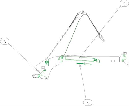 Drawing for MacLift Skiploader EASILIFT 75 Ram Seal Kits