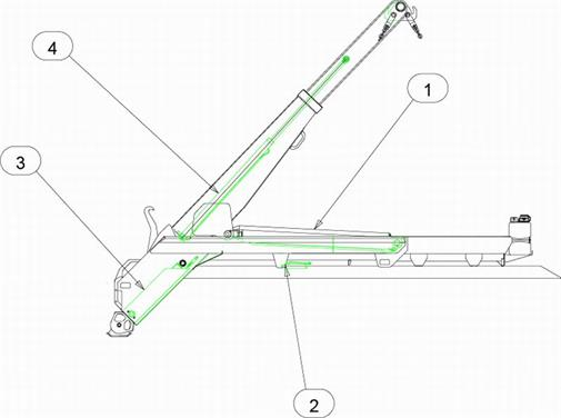 Drawing for MacLift Skiploader COMPACT Seal Kits