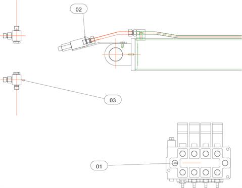 Drawing for Telehoist Hookloader TL20 Neck Ram Circuit Valves