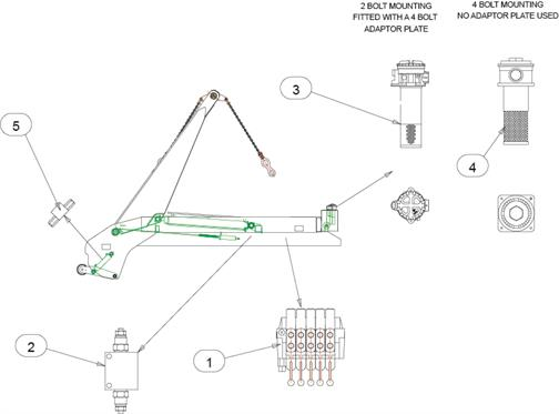 Drawing for Telehoist Skiploader CH12 Hydraulics