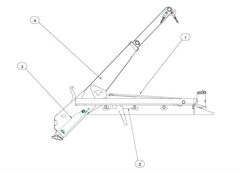 Drawing for Telehoist Skiploader CH18prS Seal Kits